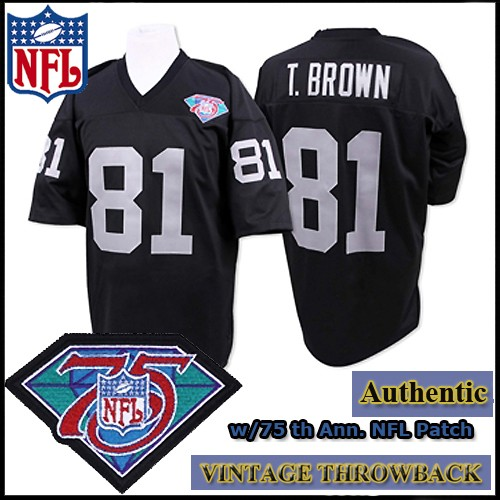 82720a50 LA Raiders 1994 Authentic Style Throwback Black Jersey #81 Tim Brown
