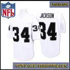 LA Raiders Authentic Style Throwback White Jersey #34 Bo Jackson