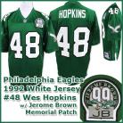 Philadelphia Eagles 1992 NFL Dark Jersey #48 Wes Hopkins