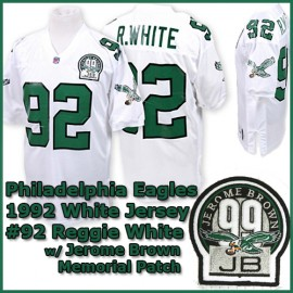 Philadelphia Eagles 1992 NFL White Jersey #92 Reggie White