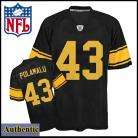 Pittsburgh Steelers Authentic Polamalu 43 Alt Black Jersey