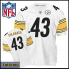 Pittsburgh Steelers Authentic Polamalu 43 White Jersey