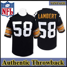 new style 9a297 cb06e Pittsburgh Steelers Authentic Style Throwback Black Jersey ...