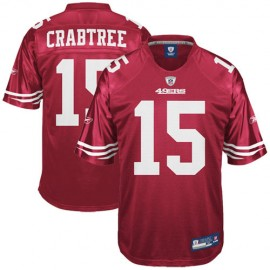 San Francisco 49ers NFL Cardinal Red Football Jersey #15 Michael Crabtree