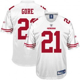 San Francisco 49ers NFL White Football Jersey #21 Frank Gore
