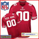 Nike Style Women's San Francisco 49ers Customized Home Red Jersey (Any Name Number)