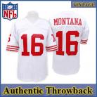 San Francisco 49ers Authentic Style Throwback White Jersey #16 Joe Montana