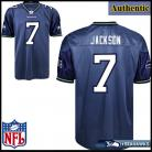 Seattle Seahawks NFL Authentic Blue Football Jersey #7 Tarvaris Jackson