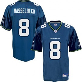 Seattle Seahawks NFL Pacific Blue Football Jersey #8 Matt Hasselbeck
