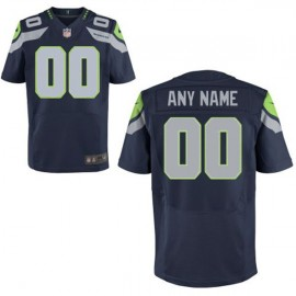 Seattle Seahawks Nike Elite Style Team Color Blue Jersey (Pick A Name)