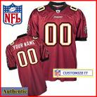 Tampa Bay Buccaneers RBK Style Authentic Home Red Jersey (Pick A Player)