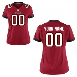 Nike Style Women's Tampa Bay Buccaneers Customized home Red (Any Name Number)