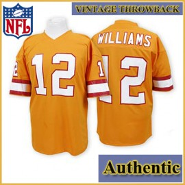 Tampa Bay Buccaneers Authentic Style Throwback Orange Jersey #12 Doug Williams