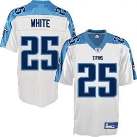 Tennessee Titans NFL White Football Jersey #25 Lendale White