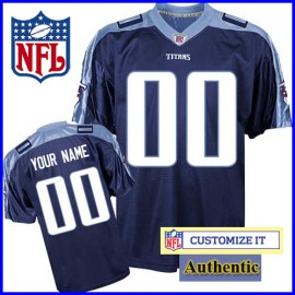 online retailer ad4f9 70509 Tennessee Titans RBK Style Authentic Alternate Blue Jersey ...