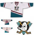 Mighty Ducks of Anaheim Throwback White Hockey Jersey Charlie Conway #96