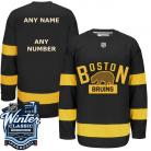 Boston Bruins 2016 Winter Classic Mens Black Jersey Custom or Blank