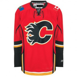 Calgary Flames NHL Premium Red Hockey Game Jersey