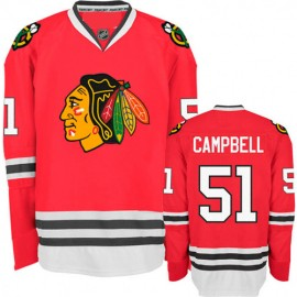 Chicago Blackhawks Authentic Style Red Game Jersey #51 Brian Campbell