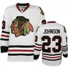 Chicago Blackhawks Authentic Style White Game Jersey #23 Aaron Johnson