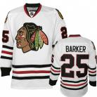 Chicago Blackhawks Authentic Style White Game Jersey #25 Cam Barker