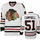 Chicago Blackhawks Authentic Style White Game Jersey #51 Brian Campbell