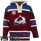 Colorado Avalanche Old Time Garnet Lace Heavyweight Hoodie Hockey Jersey