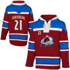 Colorado Avalanche Forsberg #21 Garnet Lace Heavyweight Hoodie Hockey Jersey