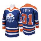 Edmonton Oilers Authentic Style Royal Blue Classic Game Jersey #31 Grant Fuhr