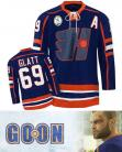Doug Glatt Halifax Highlanders #69 Goon Movie Authentic Blue Hockey Jersey