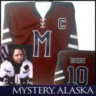 MYSTERY ALASKA MOVIE HOCKEY JERSEY RUSSELL CROWE #10 BIEBE