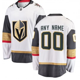 Vegas Golden Knights White Away  Authentic Style Custom Jersey