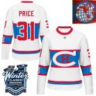 Montreal Canadiens  2016 Winter Classic Ladies White Jersey 31 Carey Price