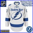 Tampa Bay Lighting 2nd Gen NHL Authentic Style Away White Hockey Game Jersey