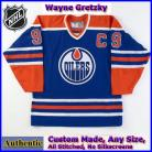 Wayne Gretzky #99 Edmonton Oilers Authentic Style Blue Game Jersey