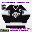 Wayne Gretzky #99 LA Kings Authentic Style Black Game Jersey