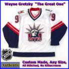Wayne Gretzky 99 New York Rangers Authentic Style Alt White Hockey Jersey