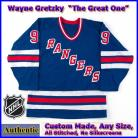 Wayne Gretzky 99  NY Rangers Authentic Style Blue Hockey Jersey