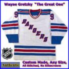 Wayne Gretzky 99 NY Rangers Authentic Style White Hockey Jersey