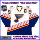 Wayne Gretzky 99 St Louis Blues Authentic Style White Hockey Jersey