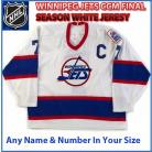 Winnipeg Jets Vintage CCM Authentic Style Away White Jersey 7 TKACHUK