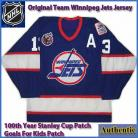 Winnipeg Jets Original Team CCM Authentic Style Home Blue Jersey 13 Selanne