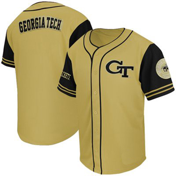 superior quality 716dc f12c8 Georgia Tech Yellow Jackets Gold NCAA College Baseball Jersey