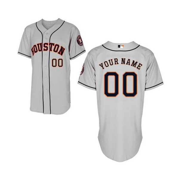 promo code d9cc8 af0be Houston Astros Authentic Style Personalized Road Gray Jersey