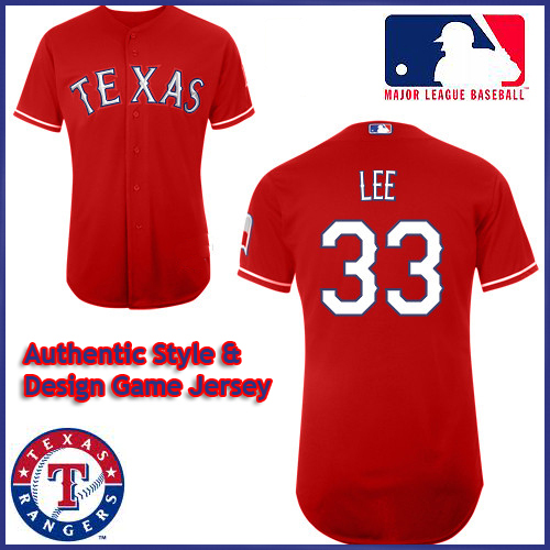 the best attitude 57a5e dfc05 Texas Rangers Authentic Style Alt 1 Red Jersey Cliff Lee #33