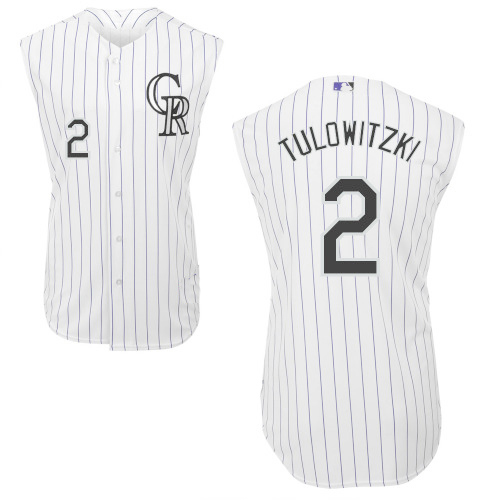 big sale 8d1f8 d5f60 Colorado Rockies Authentic Style Sleeveless White Pinstiped ...
