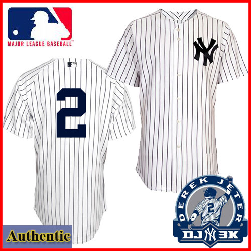 new arrival bca92 096ca NY Yankees Authentic Derek Jeter No 2 Home Pinstriped Jersey ...