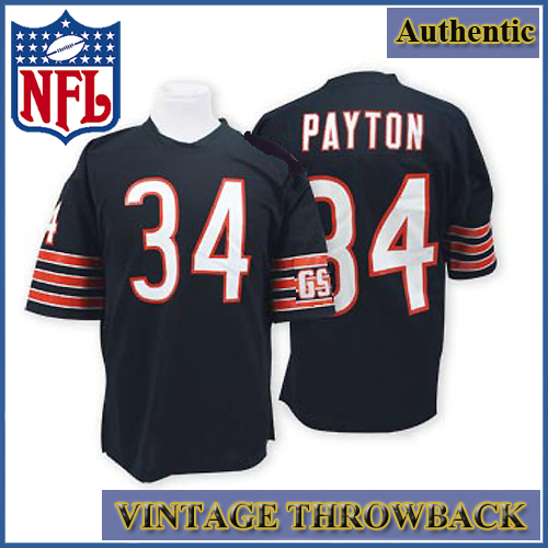 super popular 0c22b e1e0a Chicago Bears Authentic Style Throwback Navy Jersey #34 ...
