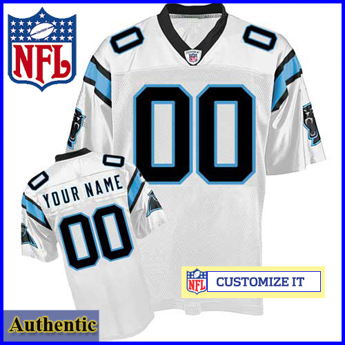 official photos 7cb9a 8818d Carolina Panthers RBK Style Authentic White Ladies Jersey ...