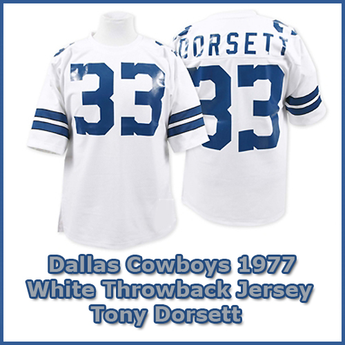 brand new 2d908 62ad9 Dallas Cowboys 1977 NFL White Jersey #33 Tony Dorsett